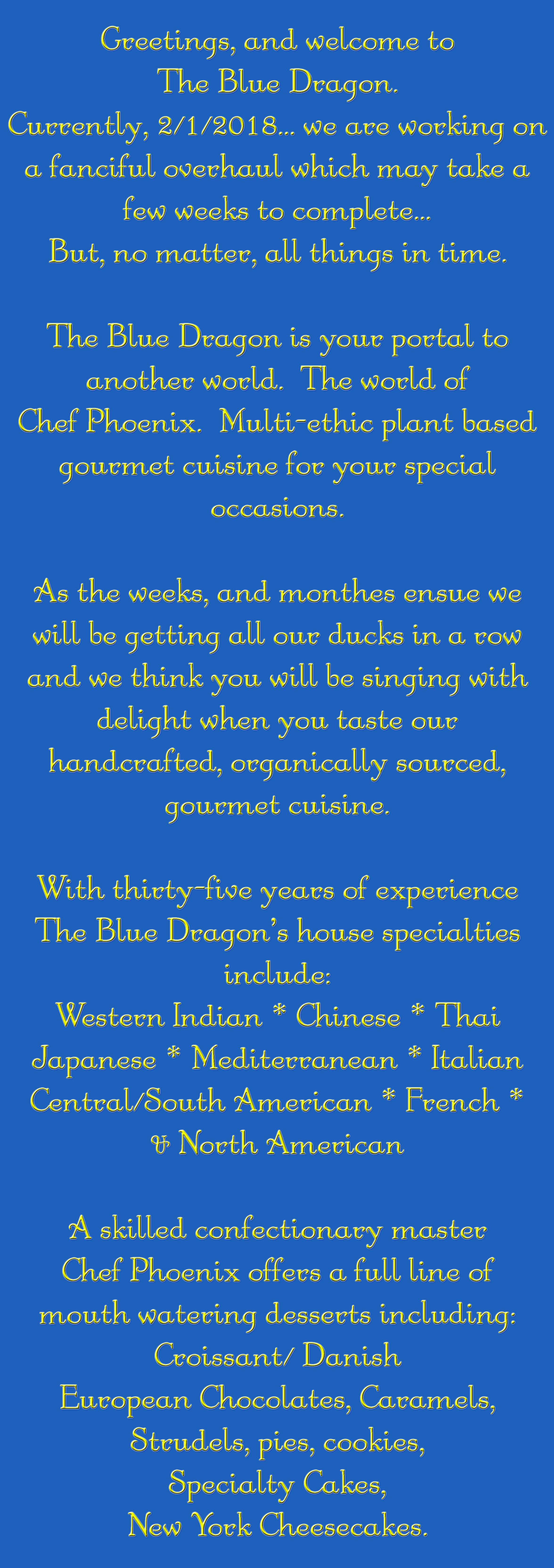 The Blue Dragon Main Portal